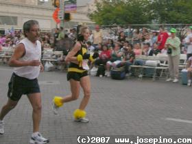 bee running a marathon