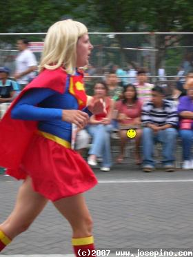 super girl running