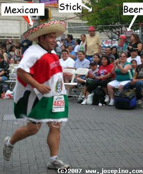 mexican guy running the marathon