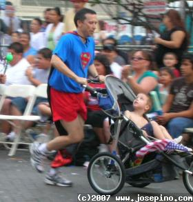 super dad running