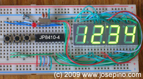 ANP 16F84A 16F628A microcontroller PIC LED clock with display control
