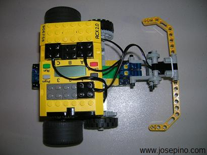 Here is my first creation using Lego Mindstorms.