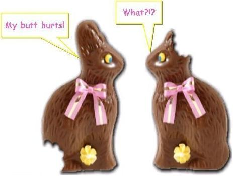 Chocolate easter bunnies.