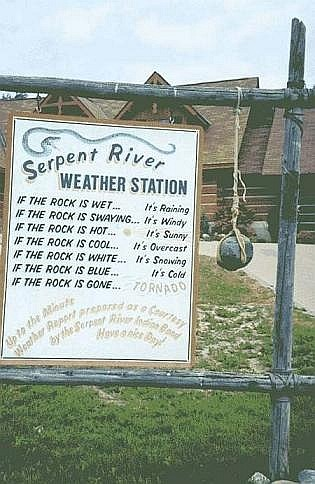 weather channel rock weather station up to the minute forecast serpent river indian
