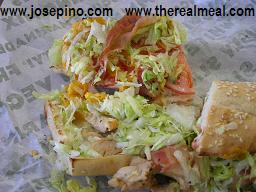 The real meal - Mesquite Chicken with Bacon Quiznos
