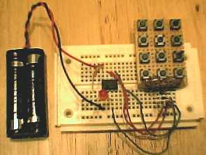 Security Keypad / Code lock using a microcontroller PIC 12F629