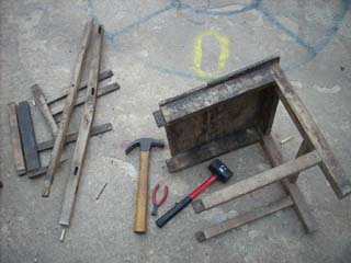 Disassembling the caoba Chair