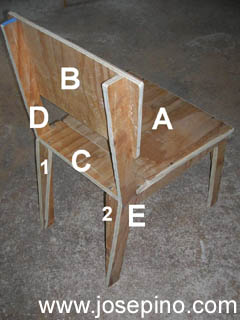 Plywood chair parts